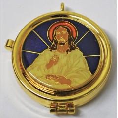 Teca Smaltata con Cristo Eucaristico da 12 particole