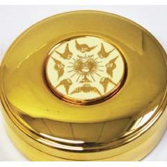 Scatola Porta OSTIE dorata, misura ø 8,4x2,5