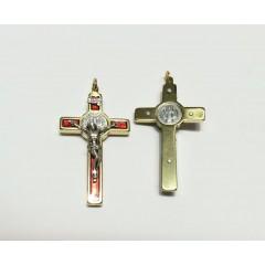 Croce di SAN BENEDETTO ROSSA da 36x20 mm