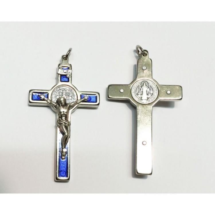 Croce di SAN BENEDETTO BLU da 60x33 mm