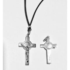 Croce di SAN BENEDETTO in Argento 925°°° due misure