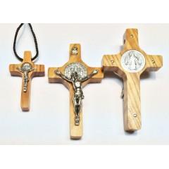 Croce di SAN BENEDETTO in Olivo due misure