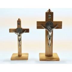 Croce di SAN BENEDETTO in Olivo due misure da Tavolo o Muro