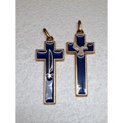 Croce Spirito Santo Dorata e Smaltata