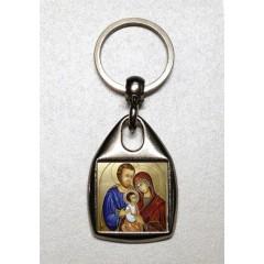 Portachiavi con la Sacra Famiglia