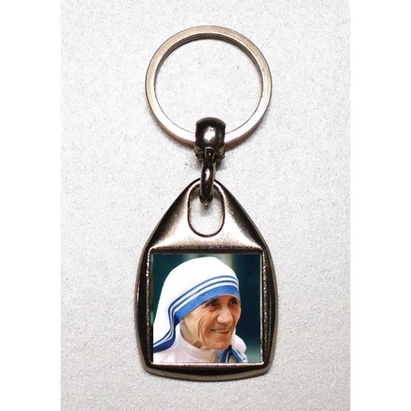 Portachiavi quadrato con Madre Teresa