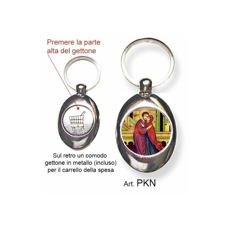 Portachiavi con Sant'Anna e Gioacchino