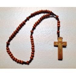 Rosario in legno corda e Croce in Ulivo