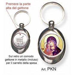 Portachiavi con la Madonna della Tenerezza