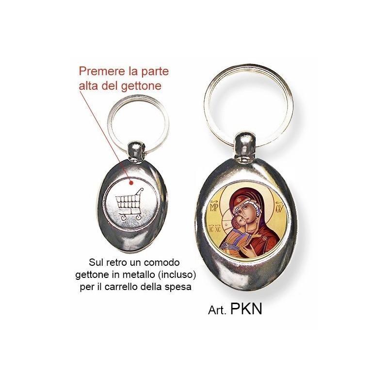 Portachiavi con la Madonna di Vladimir