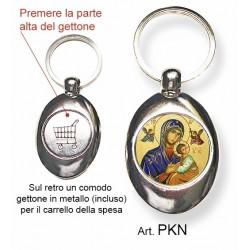 Portachiavi con la Madonna del Buon Consiglio