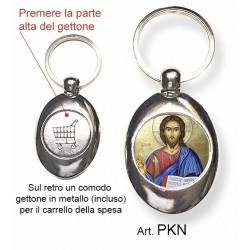 Portachiavi con Cristo Pantocrator