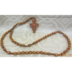Rosario in legno con Croce S. Damiano