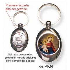 Portachiavi con la Madonna di Pompei