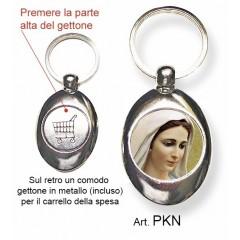 Portachiavi con la Madonna di Medjugorje