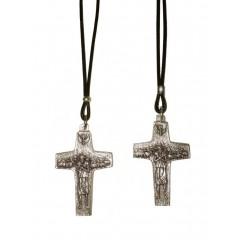 """Collana con la """" Croce di PAPA FRANCESCO """" in 2 misure"""