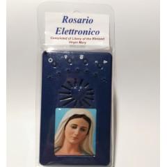 Rosario BLU con Immagine in Resina