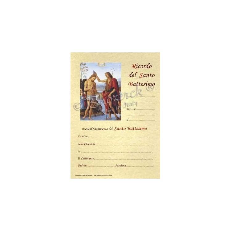 Pergamena In Ricordo del Santo Battesimo (del Perugino)