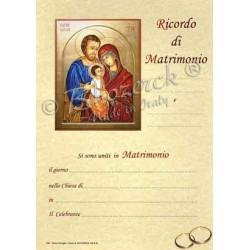 Pergamena In Ricordo della Santa Cresima