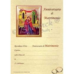 Pergamena In Ricordo dell'Anniversario di Matrimonio