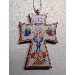 Crocetta Sagomata con simboli 1a Comunione