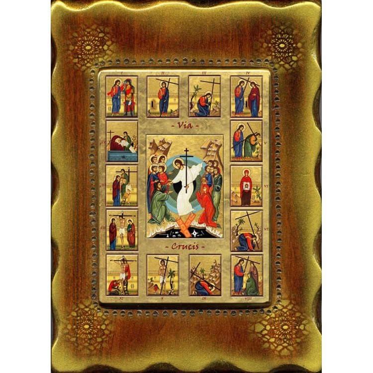 La Via Crucis 18x24 cm. mod. A