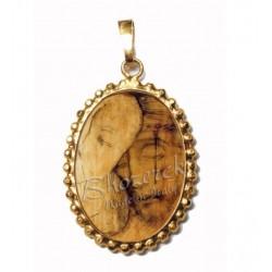 Il Buon Pastore su Ciondolo in Argento 925°°° a Corona