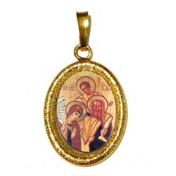 Sacra Famiglia su Ciondolo in Argento 925°°° Diamantato