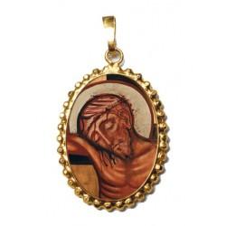 Il Riposo di Cristo su Ciondolo in Argento 925°°° a Corona