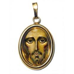 IL Volto Santo di Cristo su Ciondolo in Argento 925°°° Dorato Lucido