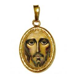 IL Volto Santo di Cristo su Ciondolo in Argento 925°°° Diamantato