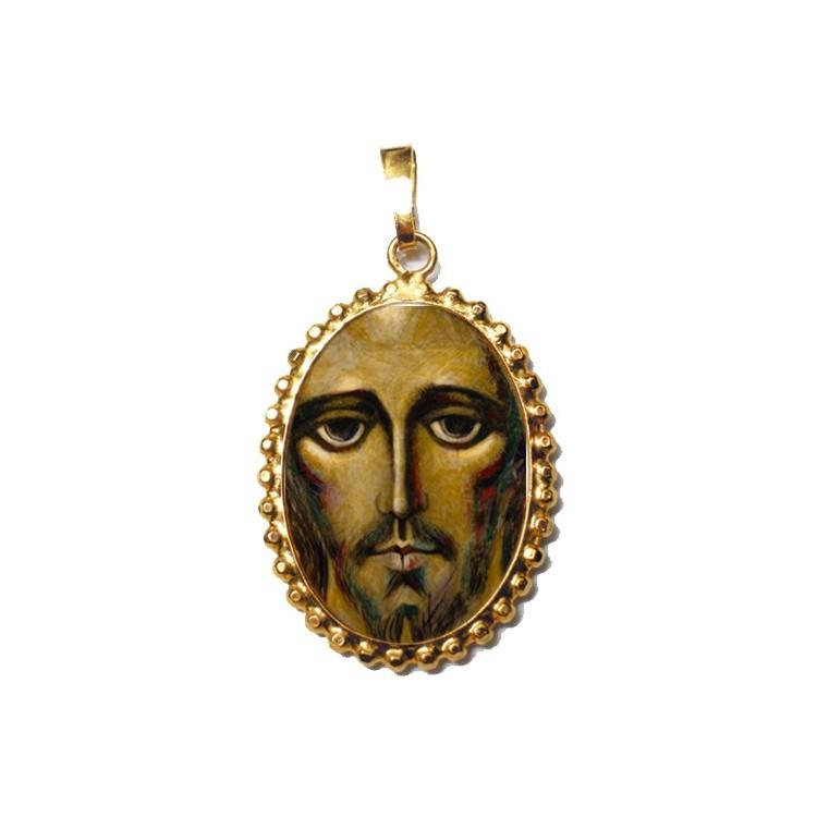 IL Volto Santo di Cristo su Ciondolo in Argento 925°°° a Corona
