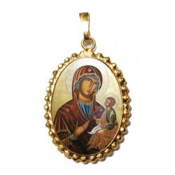 La Madonna di Sclavons su Ciondolo in Argento 925°°° a Corona