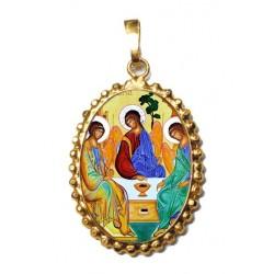 La SS Trinità su Ciondolo in Argento 925°°° a Corona