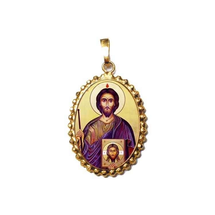 San Giuda Taddeo cugino di Gesù su Ciondolo in Argento 925°°° a Corona