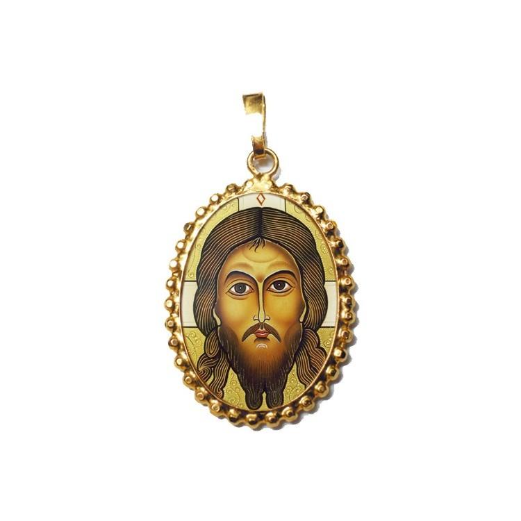 Il Santo Keramion su Ciondolo in Argento 925°°° a Corona