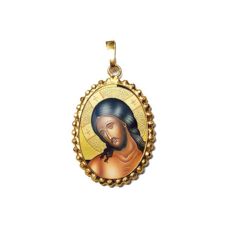 Cristo Sposo su Ciondolo in Argento 925°°° a Corona