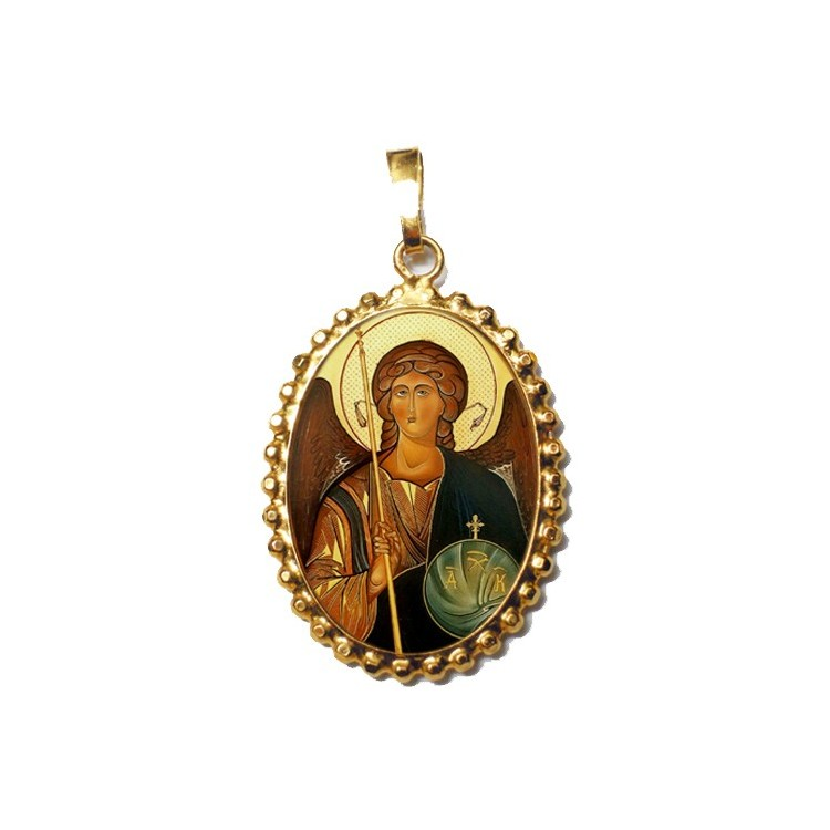 L' Arcangelo Michele su Ciondolo in Argento 925°°° a Corona