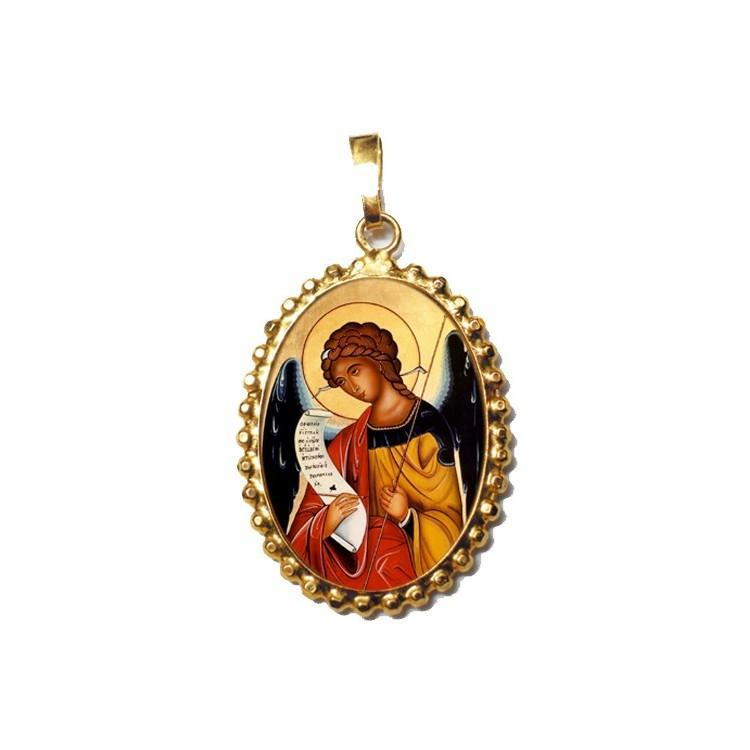 L' Arcangelo Gabriele su Ciondolo in Argento 925°°° a Corona