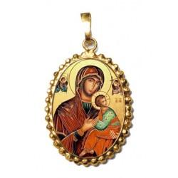 La Madonna del Perpetuo Soccorso su Ciondolo in Argento 925°°° a Corona