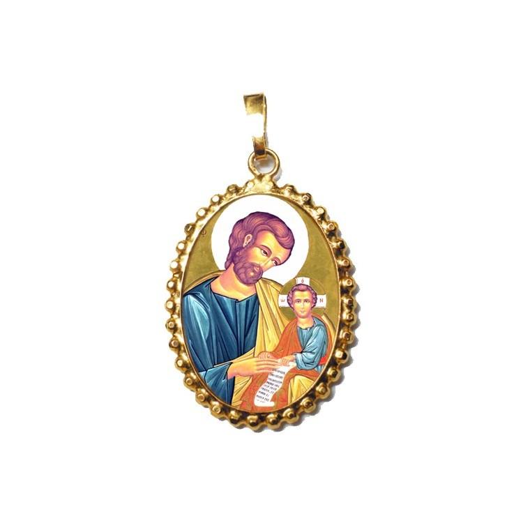San Giuseppe su Ciondolo in Argento 925°°° a Corona