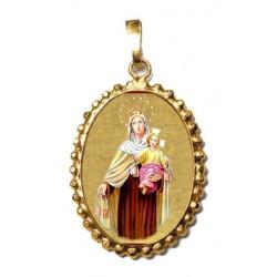 La Madonna del Carmelo su Ciondolo in Argento 925°°° a Corona