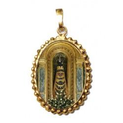 La Madonna di Loreto su Ciondolo in Argento 925°°° a Corona