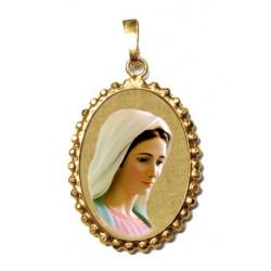 La Madonna di Medjugorje su Ciondolo in Argento 925°°° a Corona