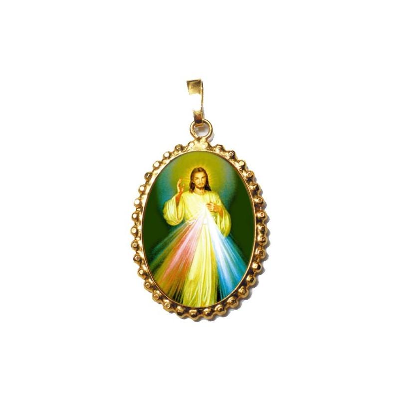 Gesù Misericordioso su Ciondolo in Argento 925°°° a Corona