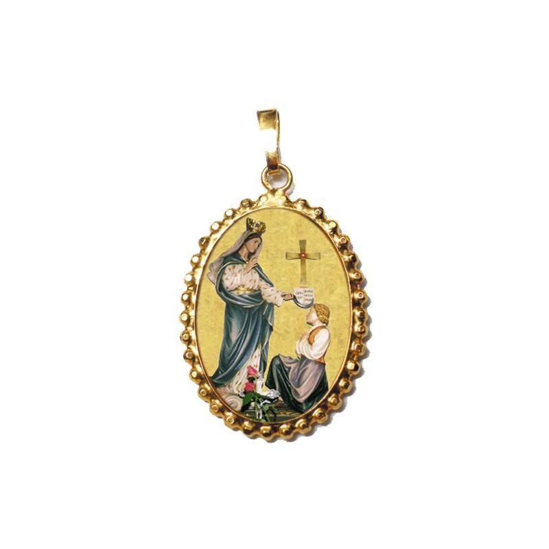 La Madonna di Porzus su Ciondolo in Argento 925°°° a Corona