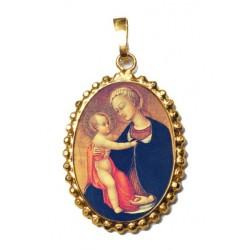 La Madonna dell'umiltà  su Ciondolo in Argento 925°°° a Corona