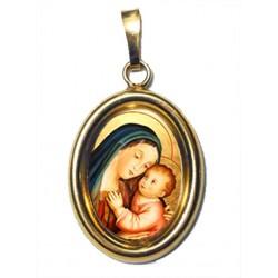 La Madonna del Buon Consiglio su Ciondolo in Argento 925°°° Dorato Lucido