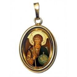 L' Arcangelo Michele su Ciondolo in Argento 925°°° Dorato Lucido