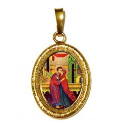 Sant' Anna e Gioacchino su Ciondolo in Argento 925°°° Diamantato